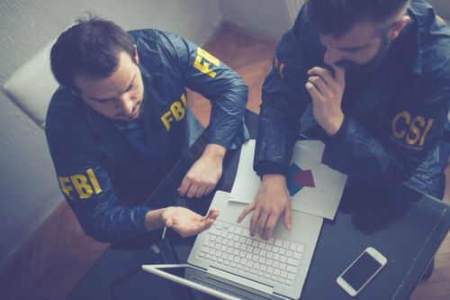 FBI and CSI agents - Federal Crimes Investigation concept